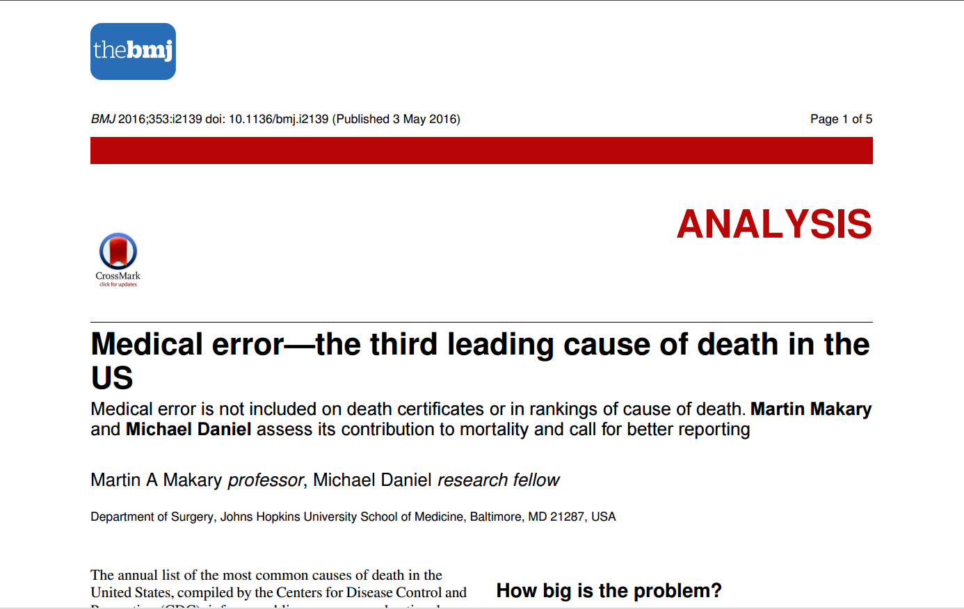 por medical errors third leading - HD1386×876